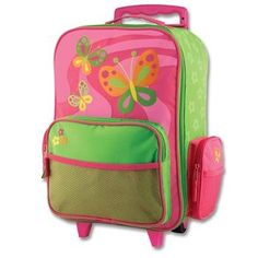 Stephen Joseph Little Girls'  Rolling Butterfly Luggage,Hot Pink/Lime Green,One Size Stephen Joseph http://www.amazon.com/dp/B002PLXSWE/ref=cm_sw_r_pi_dp_Ngsyub0DCNGEP