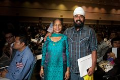 Fifteen years ago, Ranjit Singh (right) and his mother Harbhajan Kaur emigrated from the Punjab province in India and now live in North Hollywood.