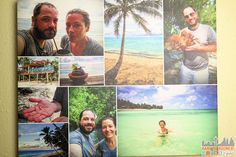 My son's Christmas Gift - a personalized canvas with photos from his Cook Island Trip - Create Quality Personalized Photo Gifts at Collage.com ad