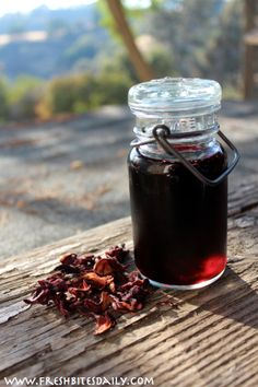 Hibiscus Syrup for Convenient Summer Treats at FreshBitesDaily.com