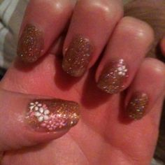 Todays simple and cute nail art