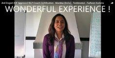 """ WONDERFUL EXPERIENCE ! "" - Farheen Karkera  Testimonials Anil Dagia's #ICF #NLP #Training #Mumbai ( #India )  http://anildagia.com/icf-nlp-coach-dual-certification-training-testimonials/463-farheen-karkera-icf-approved-nlp-coach-certification-mumbai-india  #ICF #NLP #PRACTITIONER #DUAL #Certification #Life #Coach Training  APR #Mumbai - http://anildagia.com/training-calendar/icf-certification/anil-dagia-s-icf-nlp-practitioner-dual-certification-training-apr-2017-mumbai"