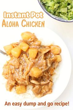 Instant Pot Aloha Chicken–an easy dump and go dinner of savory and sweet chicken, pineapple and sauce served over rice…all made together in the Instant Pot. Instant Pressure Cooker, Pressure Cooker Recipes, Pressure Cooking, Slow Cooking, Best Freezer Meals, Yum Yum Chicken, Ip Chicken, Best Chicken Recipes, Casserole Recipes