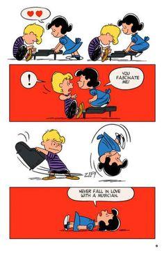 Peanuts: Lucy Van Pelt and Schroeder