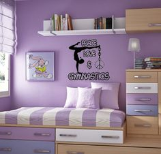 gymnastics wall decals - Google Search