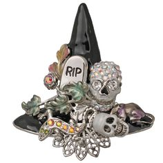 Hocus Pocus Witch Hat Pin (Silvertone): Kirks Folly Online Web Store