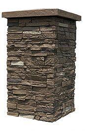 Slatestone Brunswick Brown Column Wrap