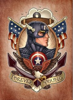 Captain America - Tim Shumate Univers Marvel, Comic Books Art, Comic Art, Captain America Tattoo, Marvel Captain America, Marvel Comics, Marvel Art, Marvel Heroes, Comic Tattoo
