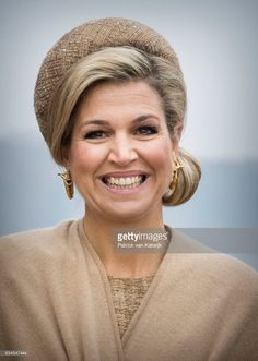 Queen Maxima of The Netherlands attends the trade mission on watermanagement in the Kornhaus during their 4 day visit to Germany on February 10, 2017 in Dessau, Germany. (Photo by Patrick van Katwijk/Getty Images)
