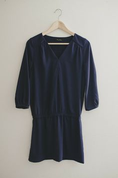 Sabina Tunic | Modern Bohemian Navy Drop Waist Tunic Dress - Velvet Moon | a modern bohemian boutique