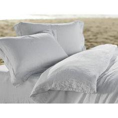 Coyuchi Relaxed Linen Pillowcase Size: King, Color: Fog