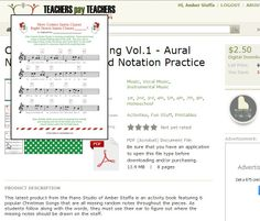 Get the $2.50 sale price for the Christmas Aural Note Hunt book up until the 25th