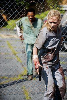 The Walking Dead 5x04 Slabtown Beth Greene and Noah