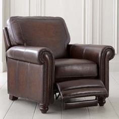 Bassett Hamilton Recliner H 40 x W 38.5 x D 40 in leather starting at $1,499