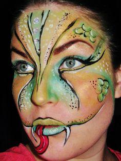 ssssserpant or snake face paint
