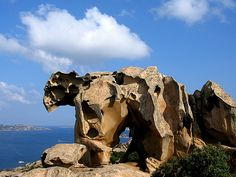Capo d'Orso in Palau, Italy Beautiful World, Beautiful Places, Environment Painting, Cool Pictures Of Nature, Cool Rocks, Pet Rocks, Rock Formations, Natural Wonders, Amazing Nature