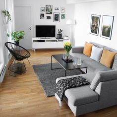 A Guide to Modern Apartment Decor For Living Room - fancyhomedecors Apartment Interior, Room Interior, Interior Design Living Room, Living Room Designs, Apartment Hacks, Interior Livingroom, Kitchen Interior, Small Apartment Living, Home Living Room