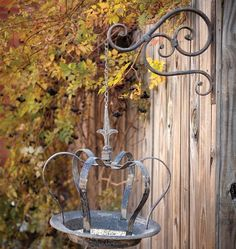 Our Hanging Crown Bird Feeder can also serve as a bird bath, candle holder or a place for trinkets. See ideas for decorating vintage at Antique Farmhouse! Antique Farmhouse, Farmhouse Decor, Vintage Birds, My Secret Garden, Yard Art, Garden Projects, Bird Houses, Garden Inspiration, Bird Feeders