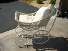 Amazing Antique *Rare* Boutique Classic Vintage Baby Carriage Wedding Stroller   eBay