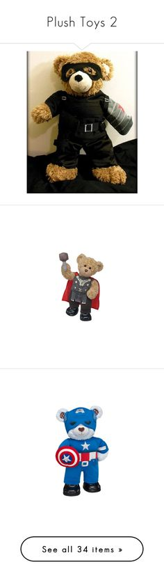 """""""Plush Toys 2"""" by ltspork ❤ liked on Polyvore featuring costumes, captain america winter soldier costume, teddy bear halloween costume, captain america halloween costume, captain america costume, winter soldier costume, superhero costumes, super hero halloween costumes, superhero halloween costumes and super hero costumes"""