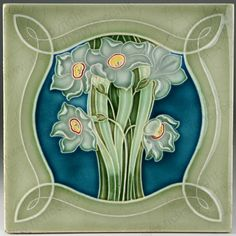 Art Nouveau & Art Deco Tiles. German. NSTG. This item is sold. To visit my website to see what's in stock click here: http://www.richardhoppe.co.uk or for help or information email us here: info@richardhoppe.co.uk
