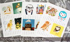 Fabulously Vintage >> Free 2013 Owl Printable Calendar! SUPER CUTE!