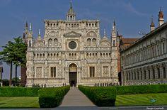 Certosa di Pavia - La facciata #TuscanyAgriturismoGiratola