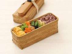 Weaved Bamboo Bento Long