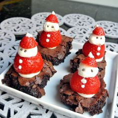 Mom, What's For Dinner?: Santa Brownies