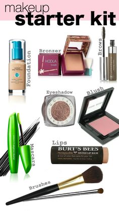 Click to see my go to essentials! Makeup Starter kit perfect for high school and even great essentials for a day to day natural look! #makeup #starterkit #highschool #college #naturalmakeup #everydaymakeup #burtsbees #covergirl #benefit #anastasia #makeupschool