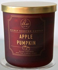 DW HOME CANDLE APPLE PUMPKIN RED SOY WAX 1 WICK RED FOG GLASS 33 HR DW7334 NEW #DWHomeINC
