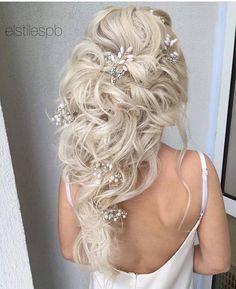 Elstie Long Wedding Hairstyles and Wedding Updos 25 | Deer Pearl Flowers