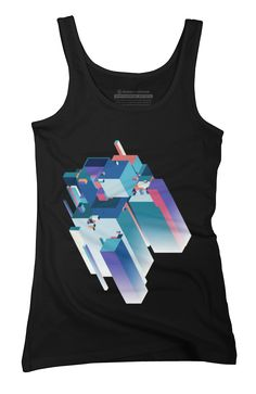 Cubic Extrude Womens Tank Top