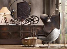 eclectic industrial need this chair for my more modern/industrial/eclectic side....