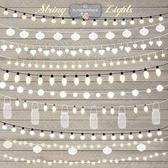 String Lights Clipart, wedding invitation, Clipart lights, Party Lights, Wedding, Fairy Lights Clipart, Lampion , String Lights Clipart,