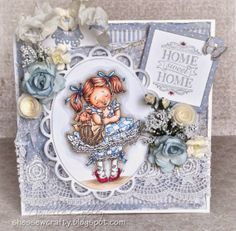 Scrapbook Maven inspiration using Mo's Digital Pencil Kansas from Wizard of Oz using Maja paper and Magnolia Tilda Tag and Whimsy Stamp