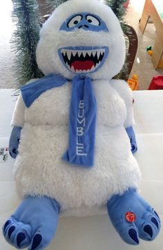 Rudolph The Red Nosed Reindeer Abominable Snowman Bumble Singing Jumbo Plush New