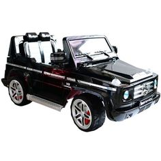 Mercedes-Benz G55 Kids 12V Electric Ride On Toy Truck w/ Parent Remote Control – Black