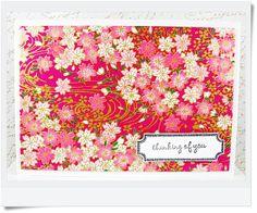 Pink & White Cherry Blossom Japanese Chiyogami Washi by TrinkArts, $4.50