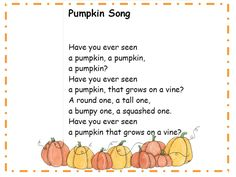 Image result for pumpkin poems for preschoolers
