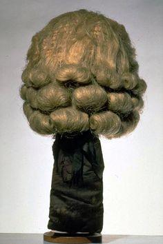 Wig for men | Black ponytail | Horsehair | 1700-1800.