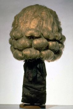 1700-1800 Horsehair Wig (for men). Black ponytail.