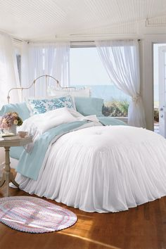 Southampton Sham from Soft Surroundings  ////    Adore this bed and the coverings!!