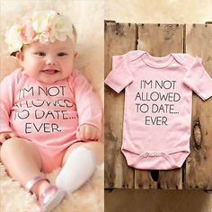 Cotton Newborn Baby Girl Boy Clothes Bodysuit Romper Jumpsuit Playsuit Outfits https://presentbaby.com #babyclothesfunny