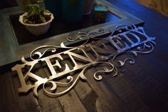 Personalized Metal Name Sign Custom Metal Name by CCRCustomMetals
