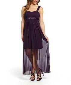Look what I found on #zulily! Eggplant Embellished Maxi Dress #zulilyfinds