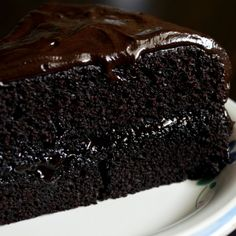 Dark Chocolate Fudge Cake Recipe from Grandmothers Kitchen  ❤