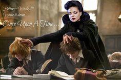 Harry Potter, Wesley & the Evil Queen. #Potterheads #EvilRegals.  Source: Michał Baczyński