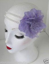 Lilac Purple Lace Flower Pearl Vintage Headpiece Great Gatsby Headband 1920s k57 Vintage Headpiece, Vintage Headbands, Headbands For Women, Purple Lace, Lilac, Gatsby Headband, Lace Flowers, 1920s, Vintage Ladies