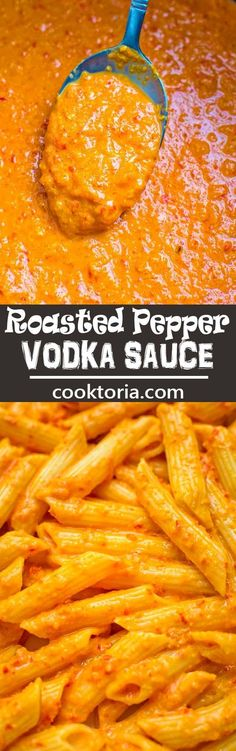 Creamy, flavorful, and oh-so-rich, this Roasted Pepper Vodka Sauce canould be used with pasta, seafood, orand chicken dishes. ❤️ COOKTORIA.COM